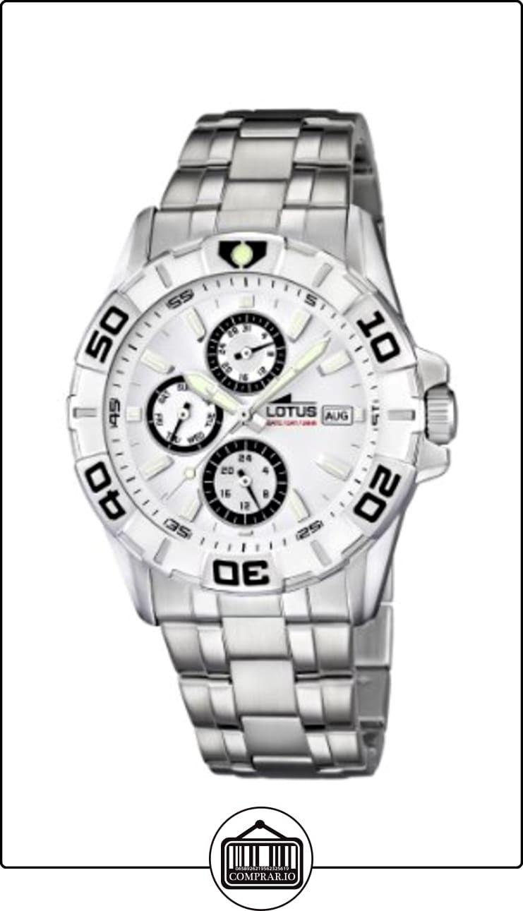 612b8694097b Lotus 15812 1 - Reloj analógico de cuarzo para hombre con correa de acero  inoxidable