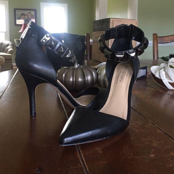 Black ankle strap pumps Beautiful , worn once , ankle strap pumps:) BCBGMaxAzria Shoes Heels