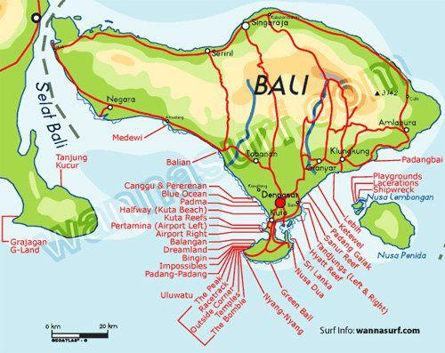 Pecatu Map Praias Bali Indonesia Travelin Pinterest Bali
