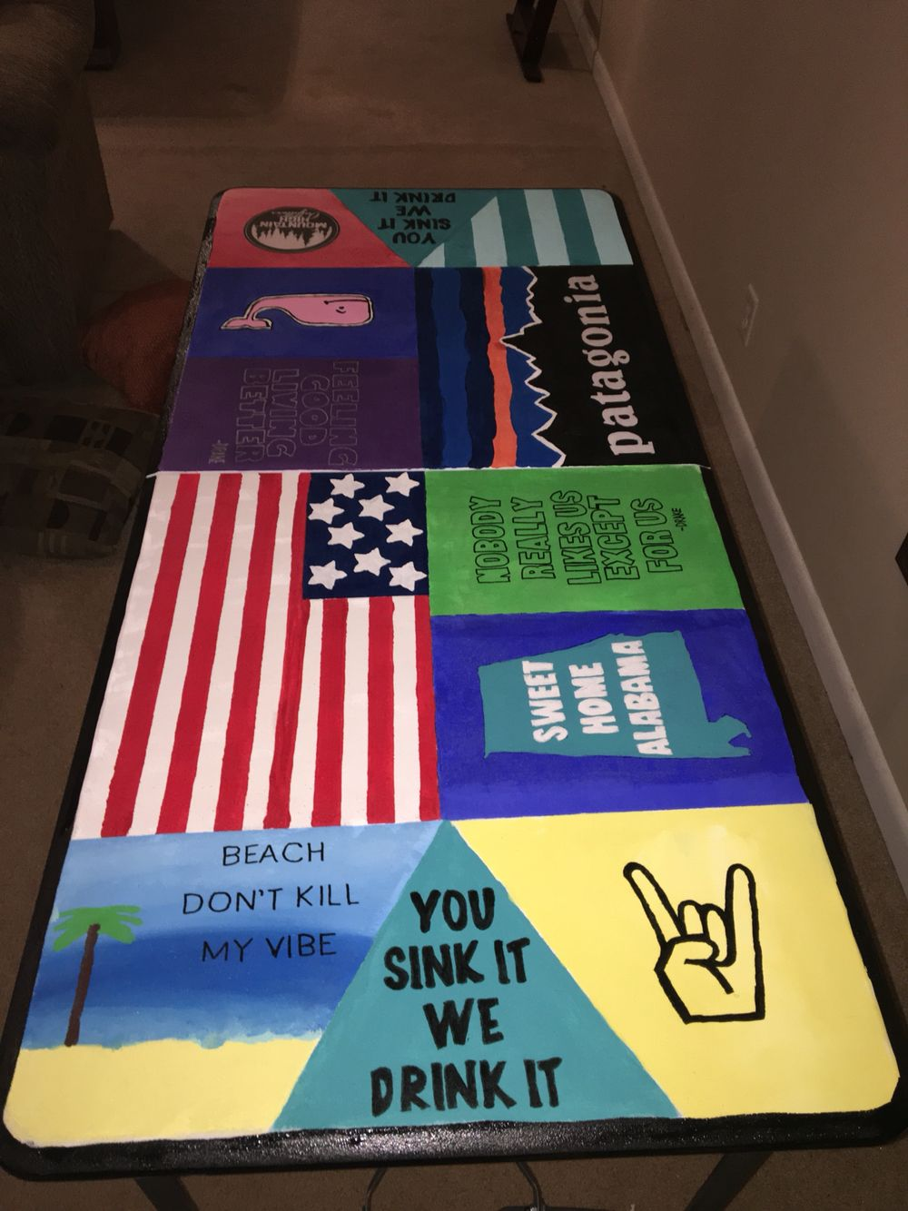 Hockey beer pong table - Beer Pong Table More