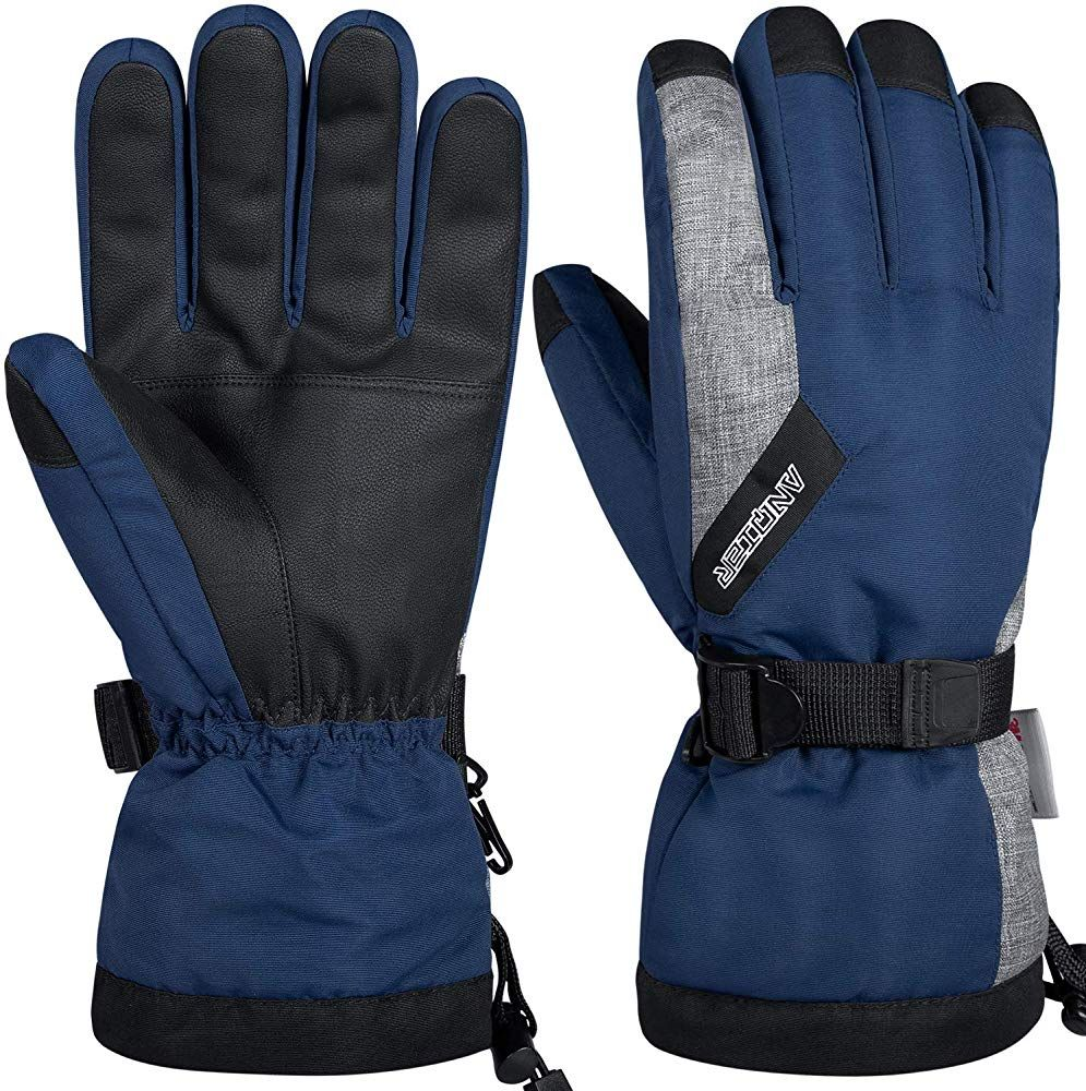 Amazon Com Lanyi Winter Gloves For Men Women 3m Thinsulate Insulated Waterproof Ski Thermal Gloves Snowboard Dr Gloves Winter Black Gloves Cold Weather Gloves