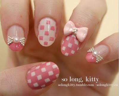 Lindisima Blog: Diseño de uñas con cuadritos