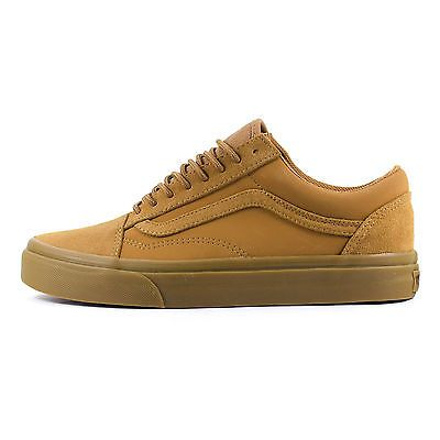 fedb617118 Mens Vans Old Skool Suede Tobacco Brown Tan Classic Skate Trainers  (VZDFEXU) in Clothes