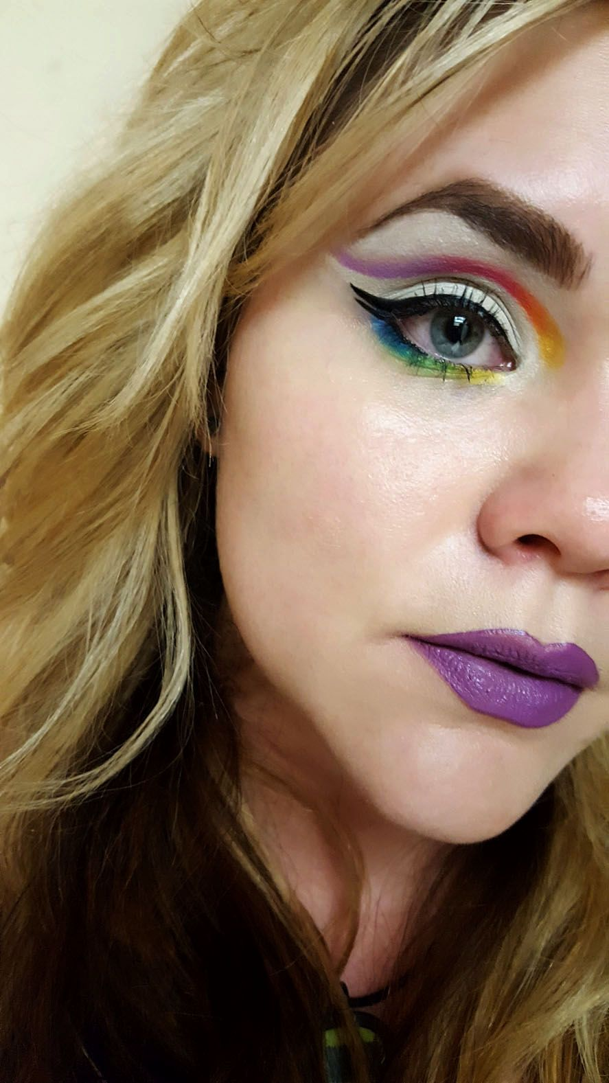 Colorful looks with NYX ultimate brights palette