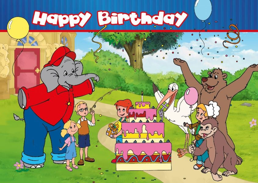 Happy Birthday Card Benjamin The Elephant Birthday Cards