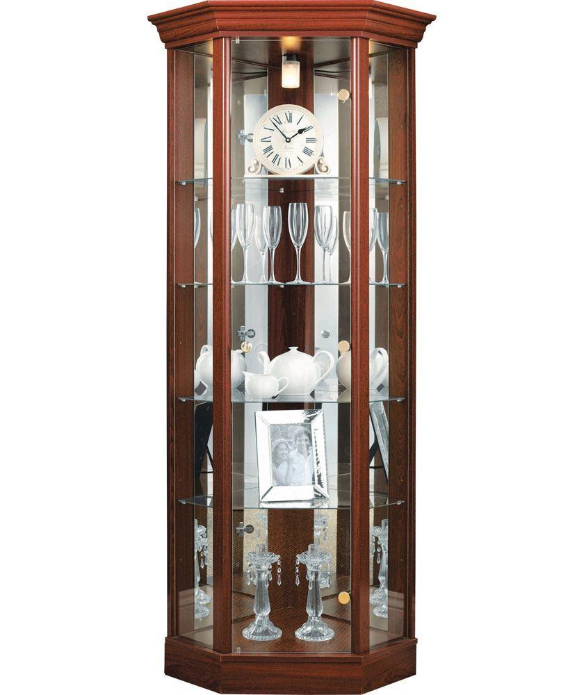 Buy Corner Glass Display Cabinet  Mahogany Effect at