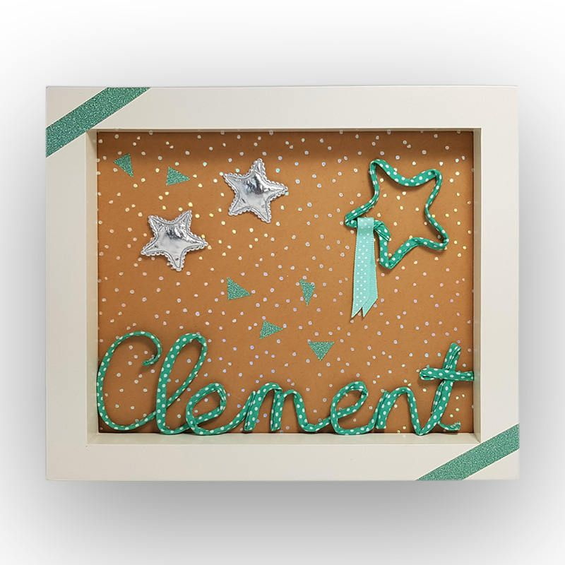 Personalized child name picture frame wall decoration child room