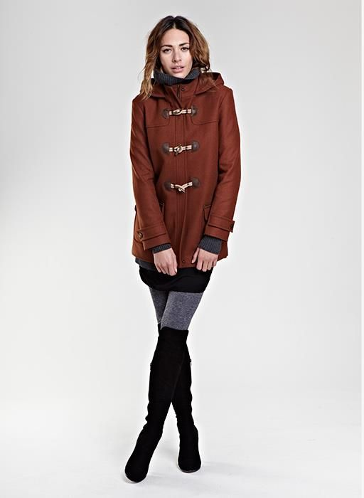 I love this duffle coat from Baukjen with the boots!