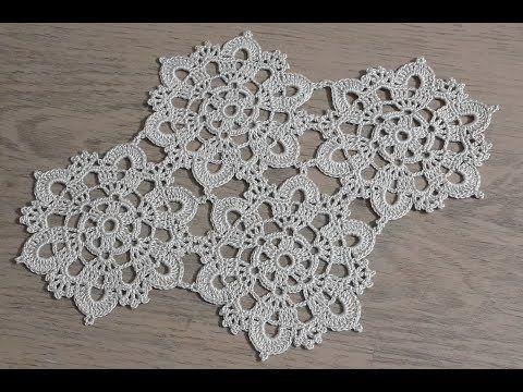 Tığişi Örgü Dantel Motif Yapımı, Çeyizlik her türlü kullanabileceğimiz bir model #crochetmotif