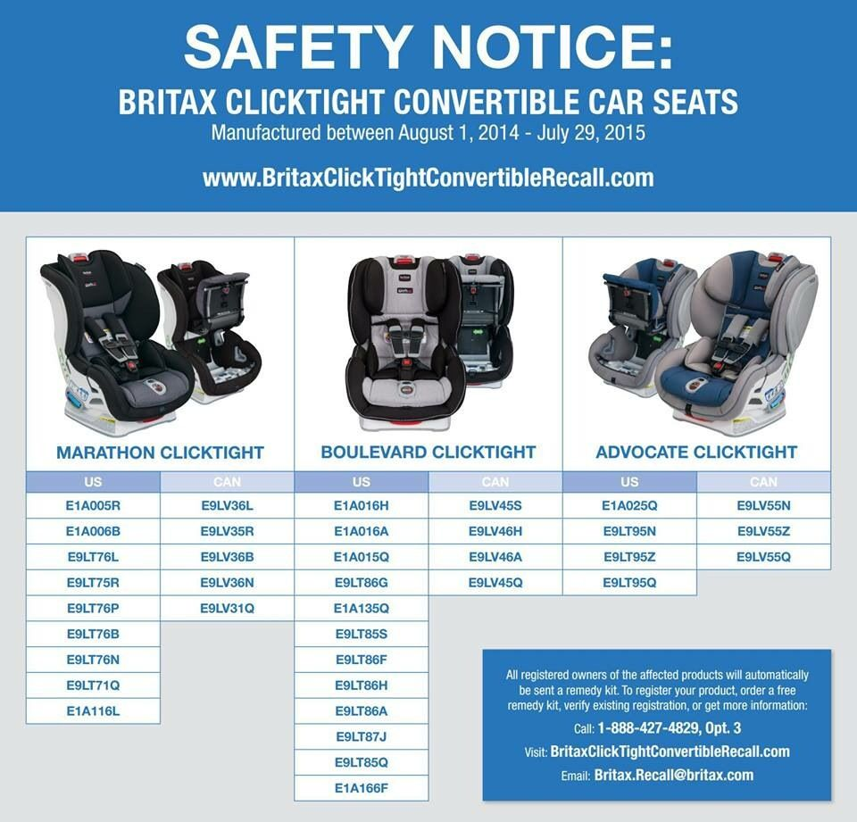 Britax Issues Voluntary Recall on Some ClickTight Car