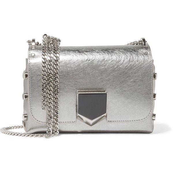 a521efa1ad2d Jimmy Choo Lockett Petite metallic brushed-leather shoulder bag ...