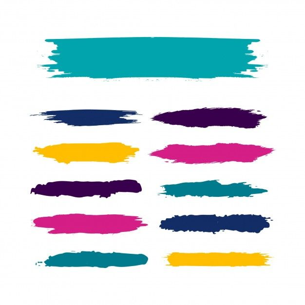 Free Vectors 15 Paint Brushstroke Illustrator Brushes Think