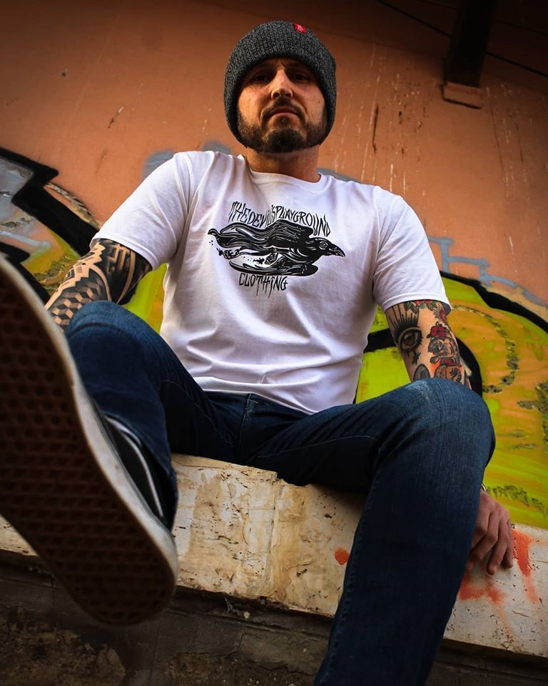 Our Antique Grey Beanie and new design white tee. Hand printed in-house, check out our full range of Tattoo Clothing online now. Link in the bio. . . . 💁‍♂️ @ro_ber.to 📸 @vokuntattoo 🗺️ Abandoned railway station Italy . . #clothing #apparel #tshirt #tshirtdesign #newrelease #beanie #beanies #beaniehat #headwear #tattooclothing #streetwear #fashion #clothingbrand #independentclothing #tattooedguys #inked #inkaddict #tattooadicted #tattoomodel #guyswithink #guyswithtattoos #italianguy