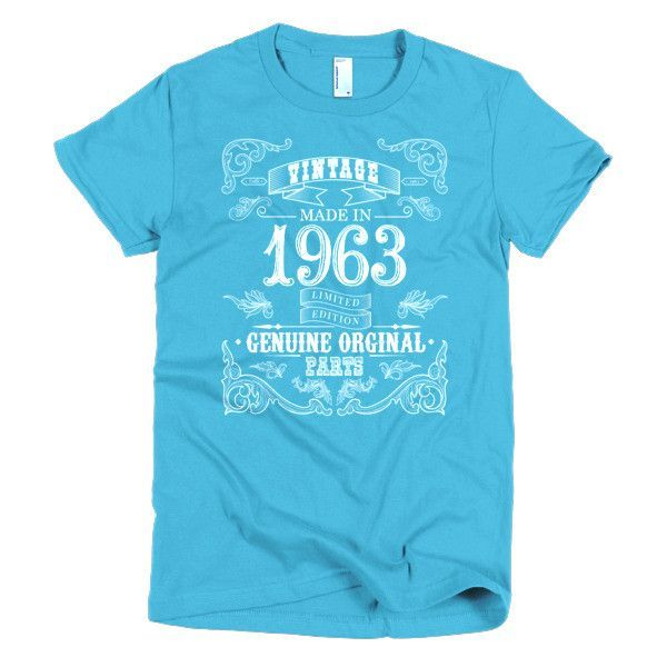 Made in 1963 Aged to perfection Short sleeve women's t-shirt