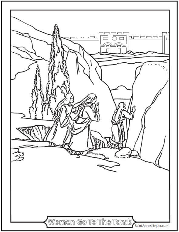 Printable Easter Coloring Pages Jesus' Resurrection Religion For Rhpinterest: Printable Easter Coloring Pages Jesus At Baymontmadison.com