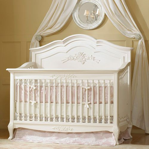 Angelina Convertible Crib French Vanilla From Poshtots Love This Crib Luxury Baby Crib Rustic Baby Girl Nursery Baby Furniture