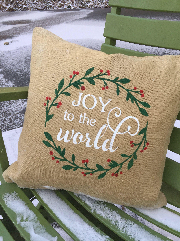 Joy To The World Throw Pillow Joy To The World Pillow Cover