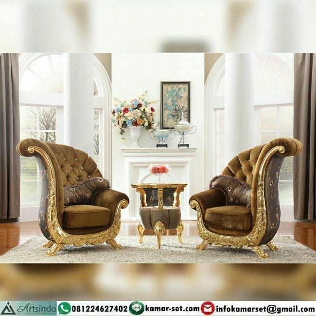 Set Kursi Santai Model Klasik Gold Eropa Berminat Memiliki Furnituremewah Furnitureuki Luxury Furniture Sofa Living Room Chairs Living Room Furniture Styles