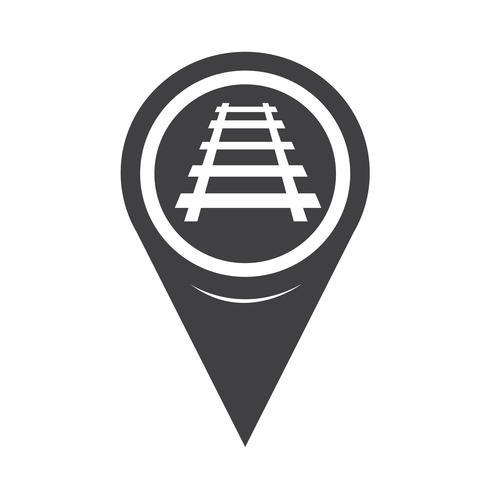 Map Pointer Railway Track Icon Train Vector Free Vector Illustration Icon