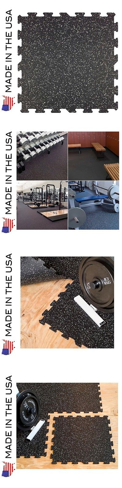 Exercise Mats 44079 Rubber Flooring Gym Tiles - 5/16 (8Mm) - 9 Pack
