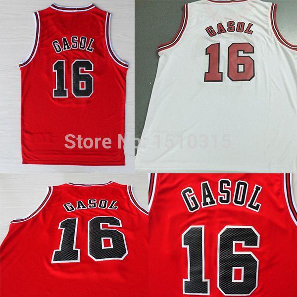 Aliexpress.com   Buy Chicago  16 Pau Gasol Jersey b8dacc6d5
