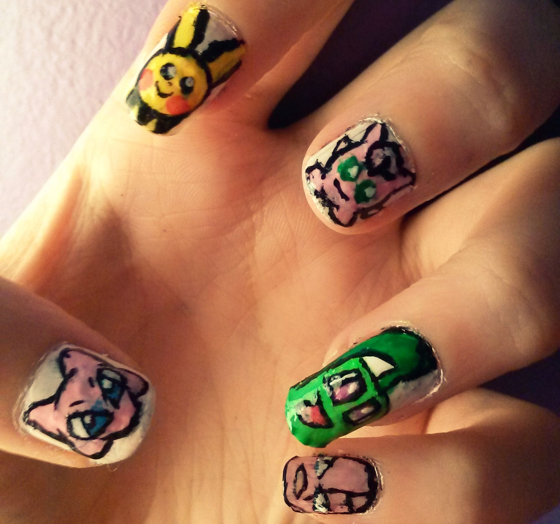 Pokemon nails <3 Mew, Pichu, Jigglypuff, Chikorita & Exeggcute ...