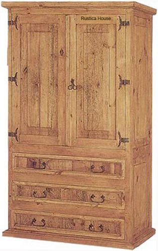 Tall Mexican Armoire Is In Rustic Victorian Style The Armoire Is Artisan Made In Natural Pine Rustic Mexican Furniture Mexican Decor Rustic Wooden Furniture