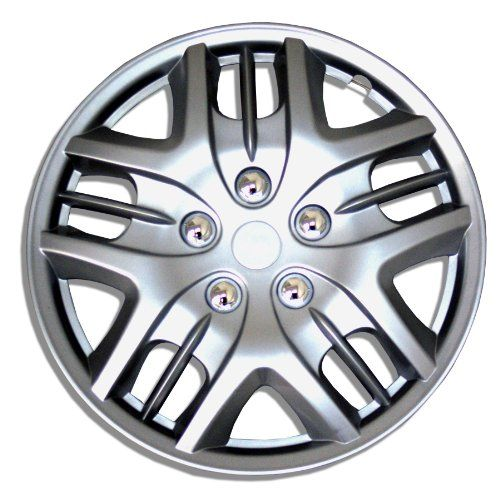TuningPros WC161025S 16InchesSilver Improved Hubcaps Wheel Skin Cover Set of 4 * Click affiliate link Amazon