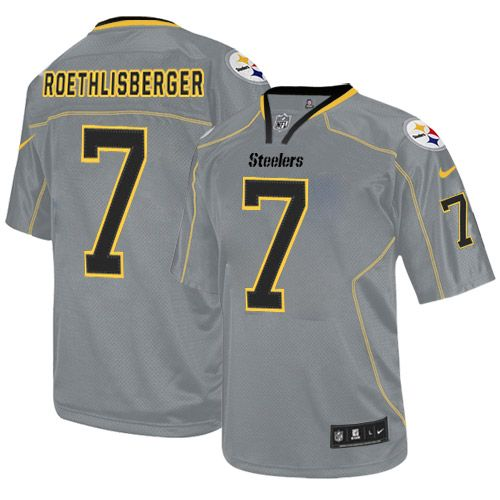 8aac6f7cc SIZE  MEDIUM Lights Out Grey Ben Roethlisberger Game Jersey  Nike NFL Pittsburgh  Steelers Men s  80- 90