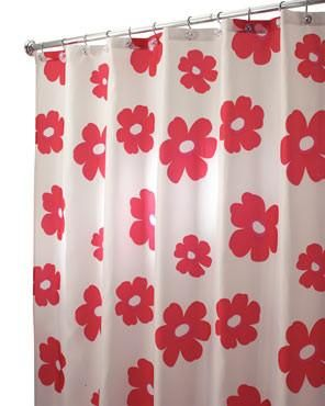 Poppy Field Fabric Shower Curtain