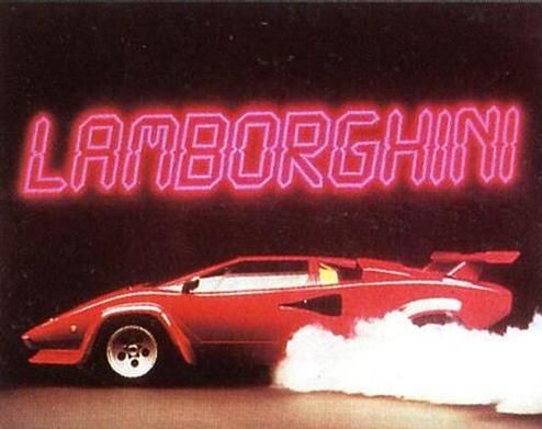 1985 Lamborghini Countach 5000S (original poster from 1985