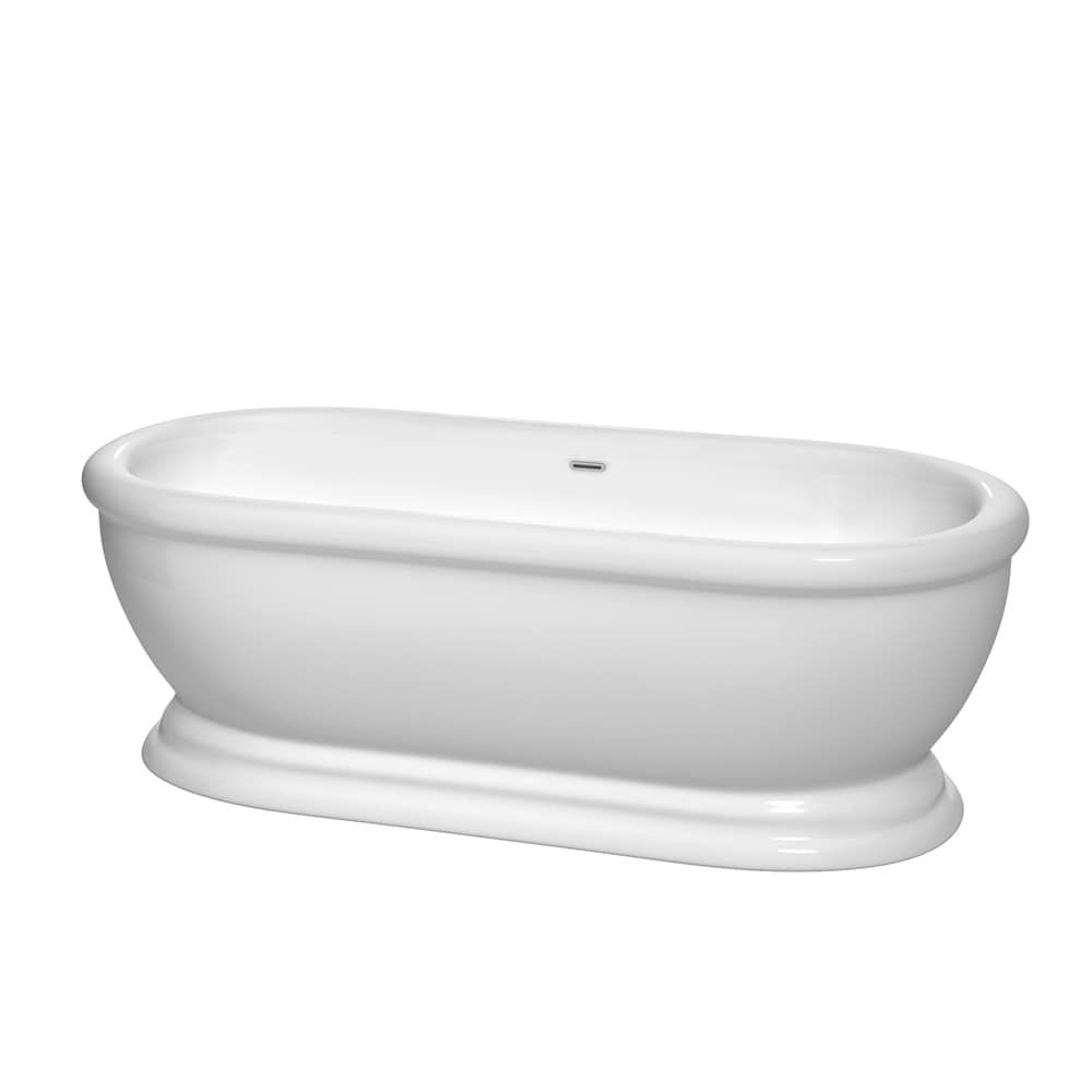 Wyndham Collection Mary 68-inch Freestanding Soaking Bathtub in ...