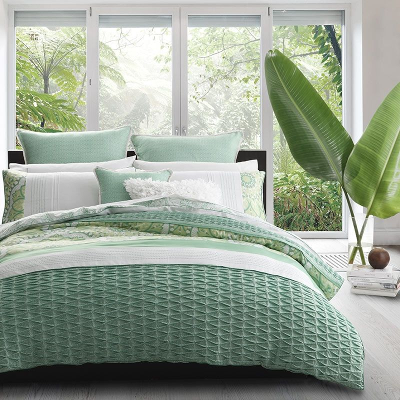 Willow Green Square Cushion Filled By Logan Mason Platinum Collection Green Duvet Covers White Quilt Cover Green Quilt