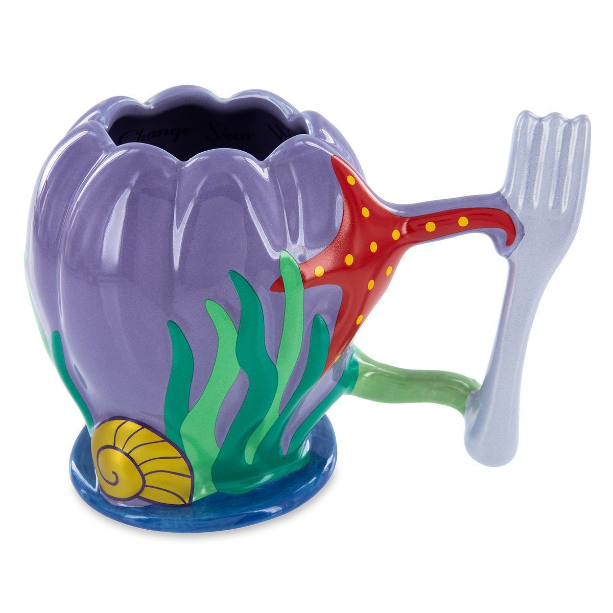 Disney Parks The Little Mermaid Ariel Dinglehopper Handle Ceramic Mug Walmart Com Disney Coffee Mugs Disney Mugs Disney Princess Mugs