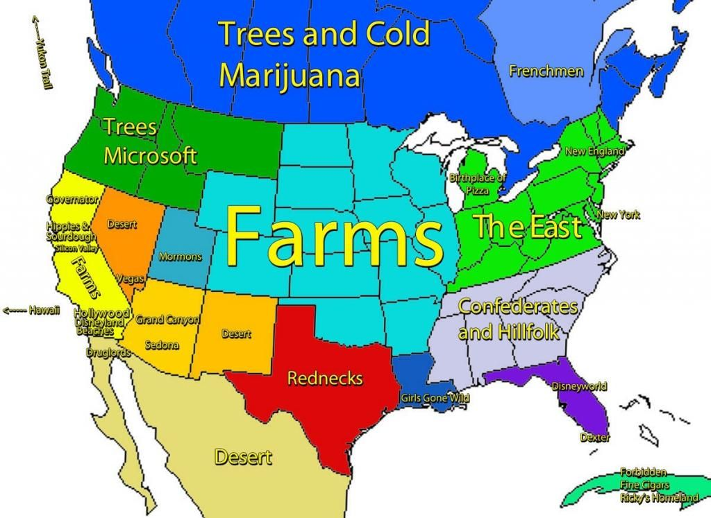 Related Image Maps Pinterest - Funny maps of the us