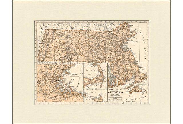 Map of  Massachusetts,  1937