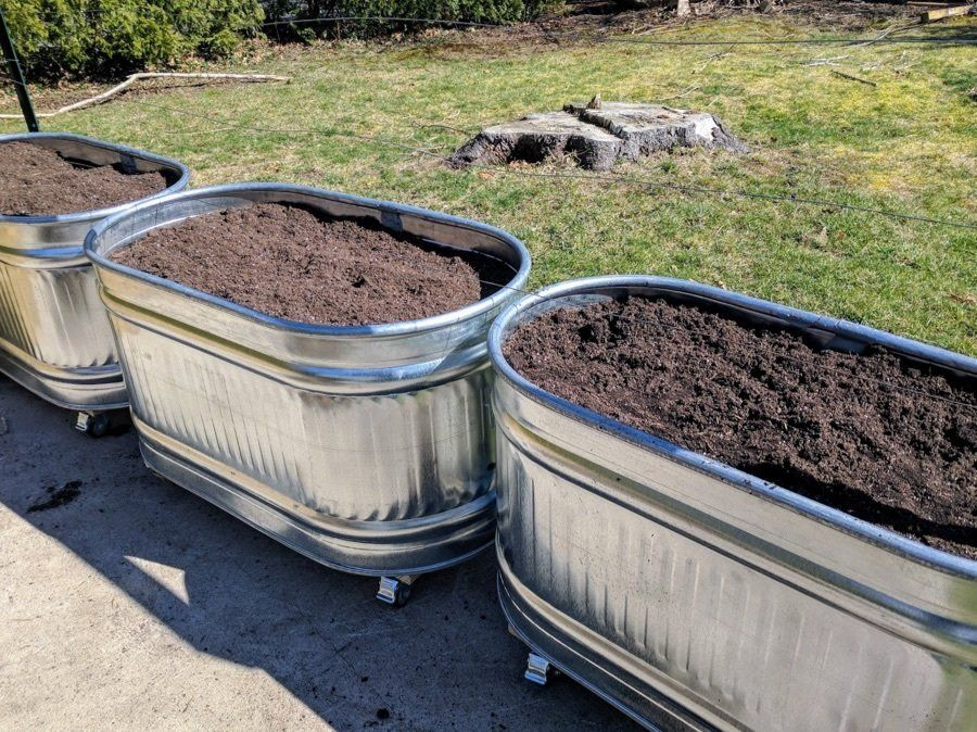 Want To Make Some Cool Galvanized Trough Planters So Did I Step By Step Instructions Costs And Lessons Garden Planters Diy Galvanized Trough Garden Troughs