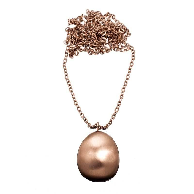 Edblad Lange halsketting Piedra mat rosegold