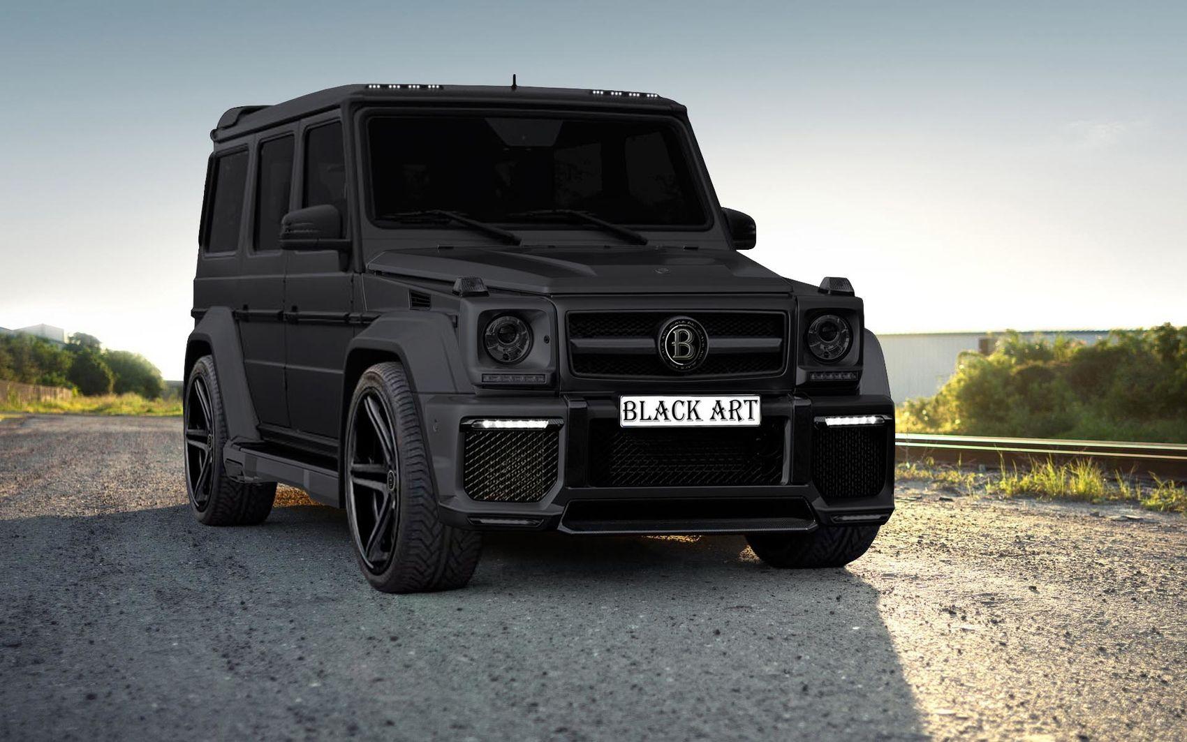 Mercedes g class w463 blackart black art group g63 for Black mercedes benz g wagon