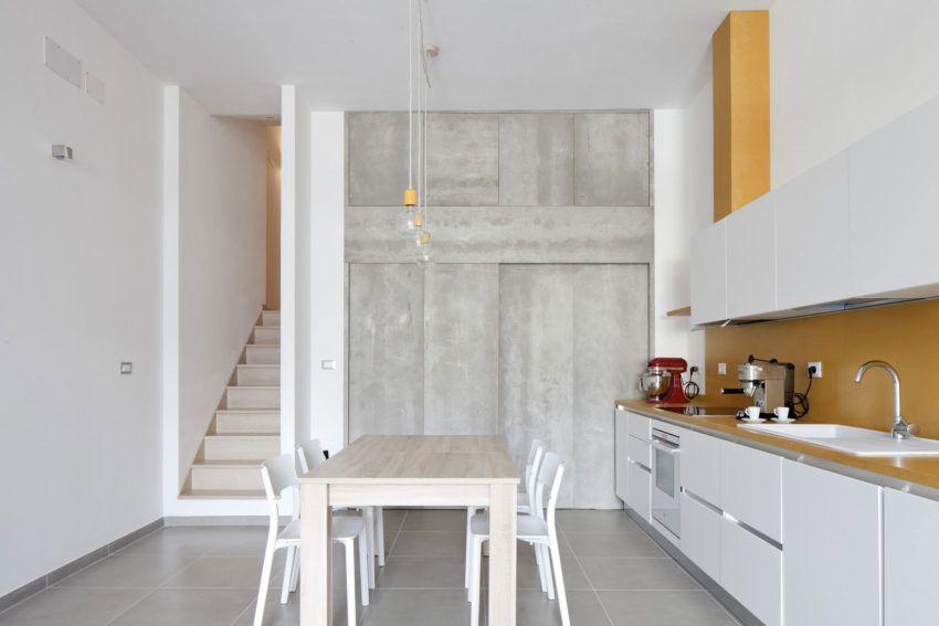 Eine minimalistische wohnung in arenzano italien innenarchitektur