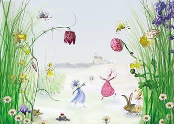 Ideal Fototapete Kinderzimmer Wandbild Kinder Prinzessin x cm ink Kleister