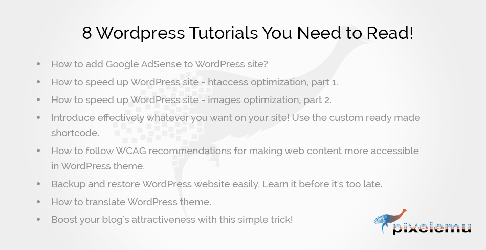 Check the latest #tutorial - read how to speed your #Wordpress #site using #htaccess optimization.
