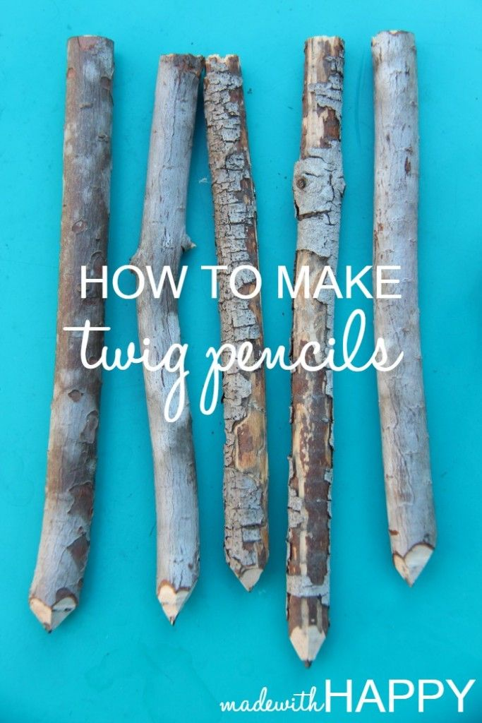 how to make twig pencils making pencils out of branches. Black Bedroom Furniture Sets. Home Design Ideas