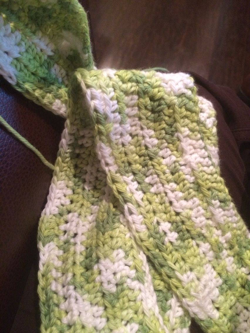 3rd scarf crotchet during Christmas... Getting the hang of it again after 25 years!!