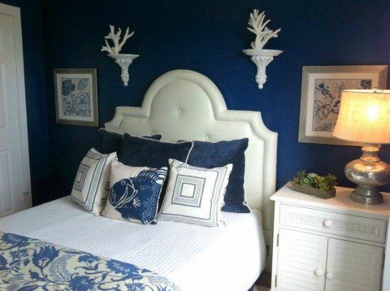 Nautical Bedroom Decorating With Blue Walls Blue Bedroom Decor