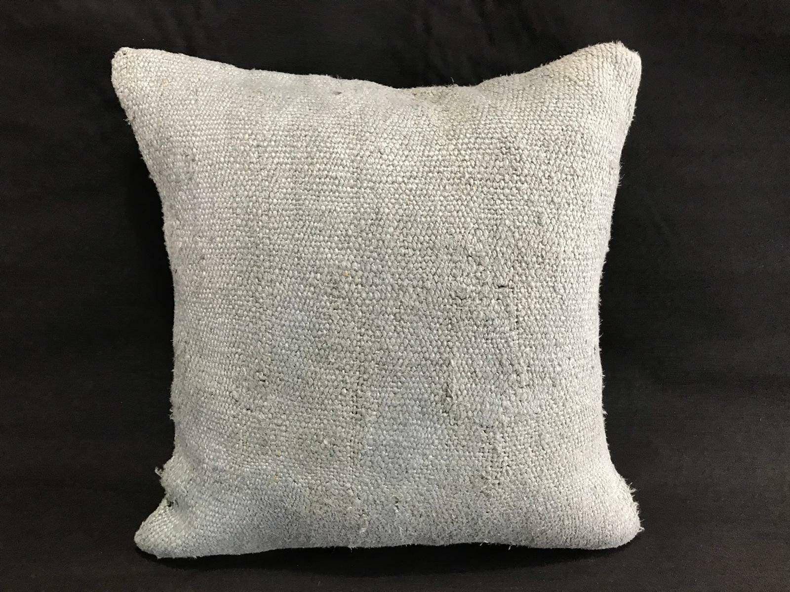 Hemp Pillow Hemp Kilim Pillow Antique Handmade Hemp Kilim Cushion Cover Sofa Pillow Handwoven Pillows Pillow 16x16 Inches 40x40cm