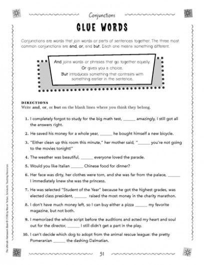 Conjunctions Glue Words Conjunction Worksheets Conjunctions Conjunction Worksheet Conjunction worksheet 3rd grade