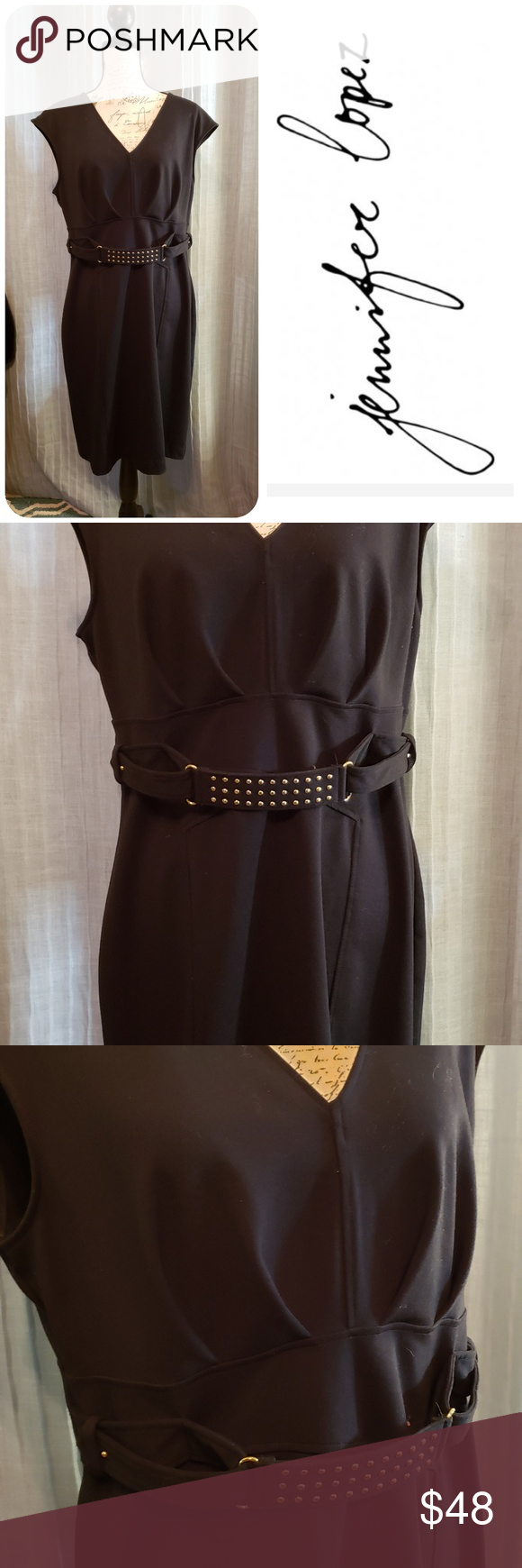 Jennifer Lopez Black Dress Size 16 Size 16 Dresses Dresses Black Dress [ 1740 x 580 Pixel ]