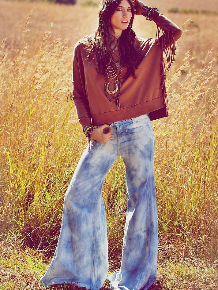 Flare jeans are back again!!!!! Free People Tie Dye Extreme ...