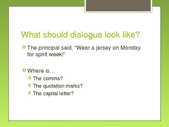 000 Quotation Marks in Dialogue PowerPoint Writing